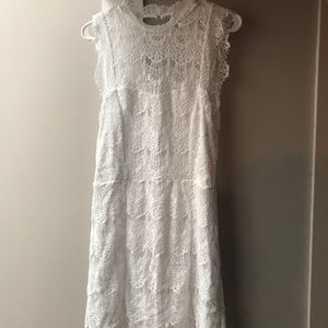 Free people white lace dress NWT